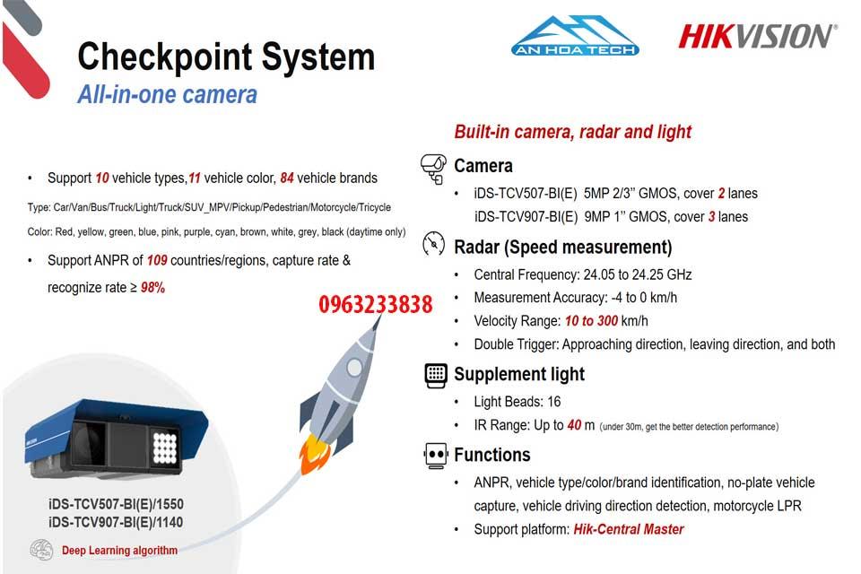 Camera đo tốc độ all in one camera chụp biển số và nhận dạng biển số