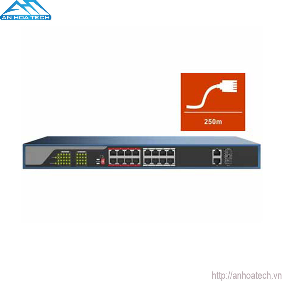 Switch PoE 16 Port HDParagon HDS-SW1016POE