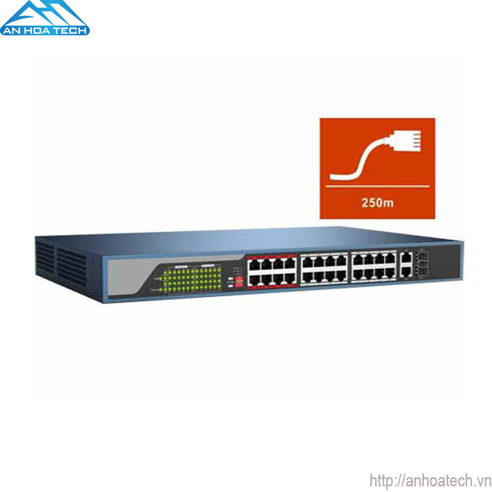 Switch PoE 24 Port HDParagon HDS-SW1024POE
