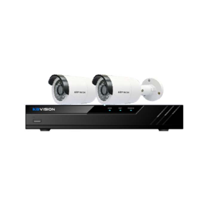 BỘ KIT KBVISION KIT Gồm 2 Camera +1 DVR 4 kênh Camera IP 2.0mp