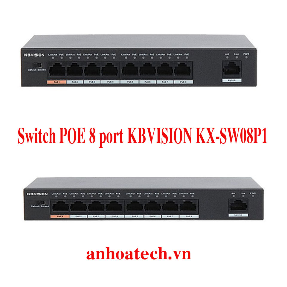 Switch PoE 8 Ports KBVISION KX-SW08P1
