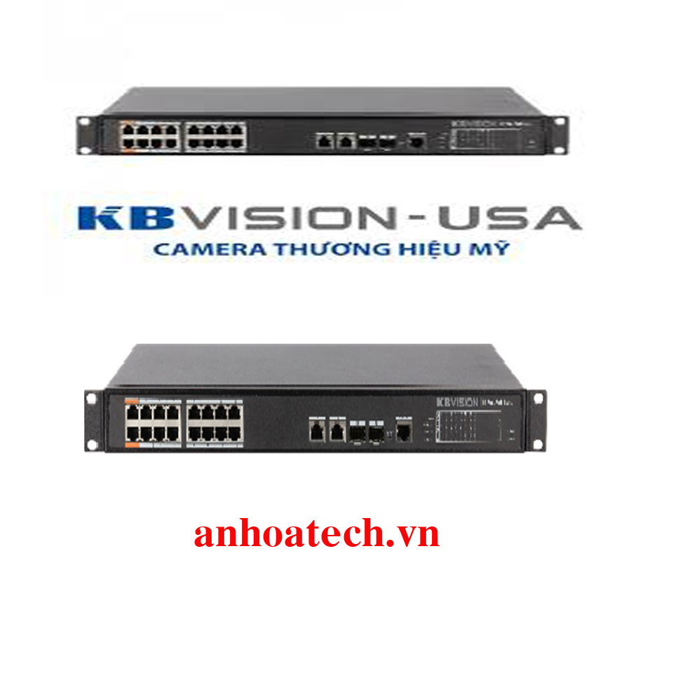 Switch PoE 16 Ports KBVISION KX-SW16SFP2