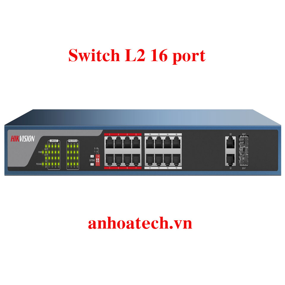 Switch PoE 16 Ports 100M Hikvision DS-3E0318P-EM