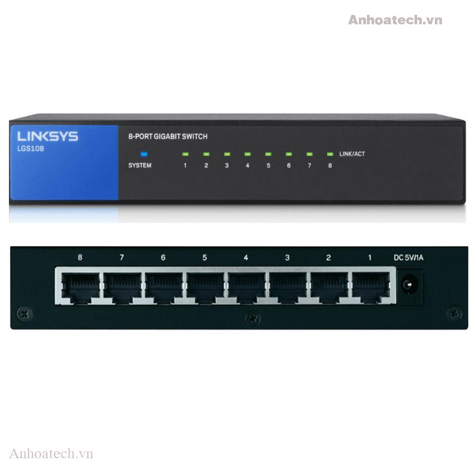 Switch 8 ports Linksys LGS108