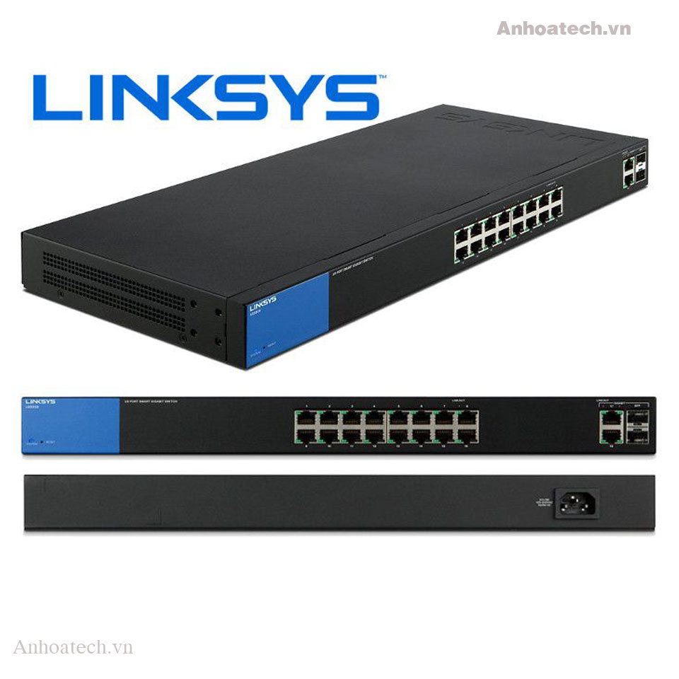 Switch 18 Ports Linksys LGS318 Smart Gigabit