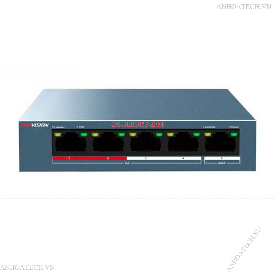 Switch PoE 4 Ports 100M HIKVISION DS-3E0105P-E/M