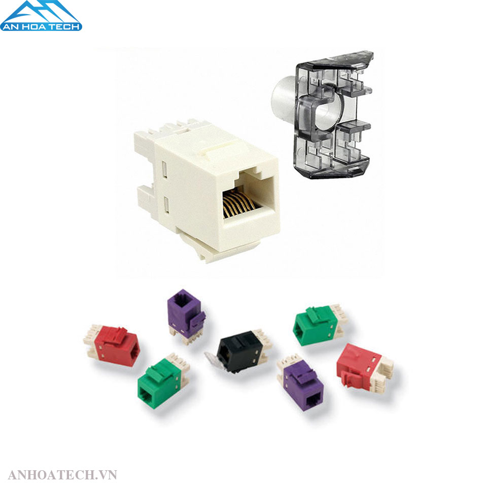 Đầu nối AMP Category 3 Modular Jack, Unshielded, RJ11/14/25C