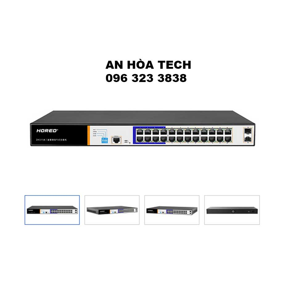 AI Smart POE Switch PS3024GS 24-Port Gigabit Layer 2 Managed PoE switch