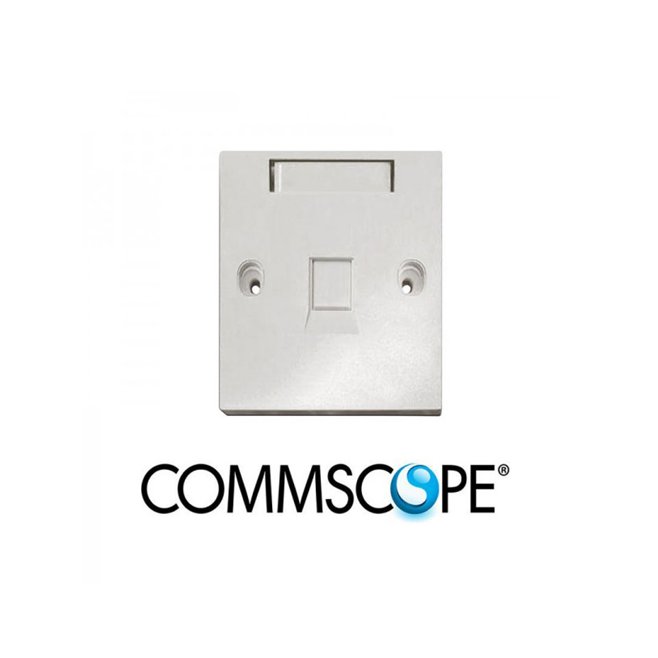 Mặt nạ 1 port Faceplate Kit COMMSCOPE