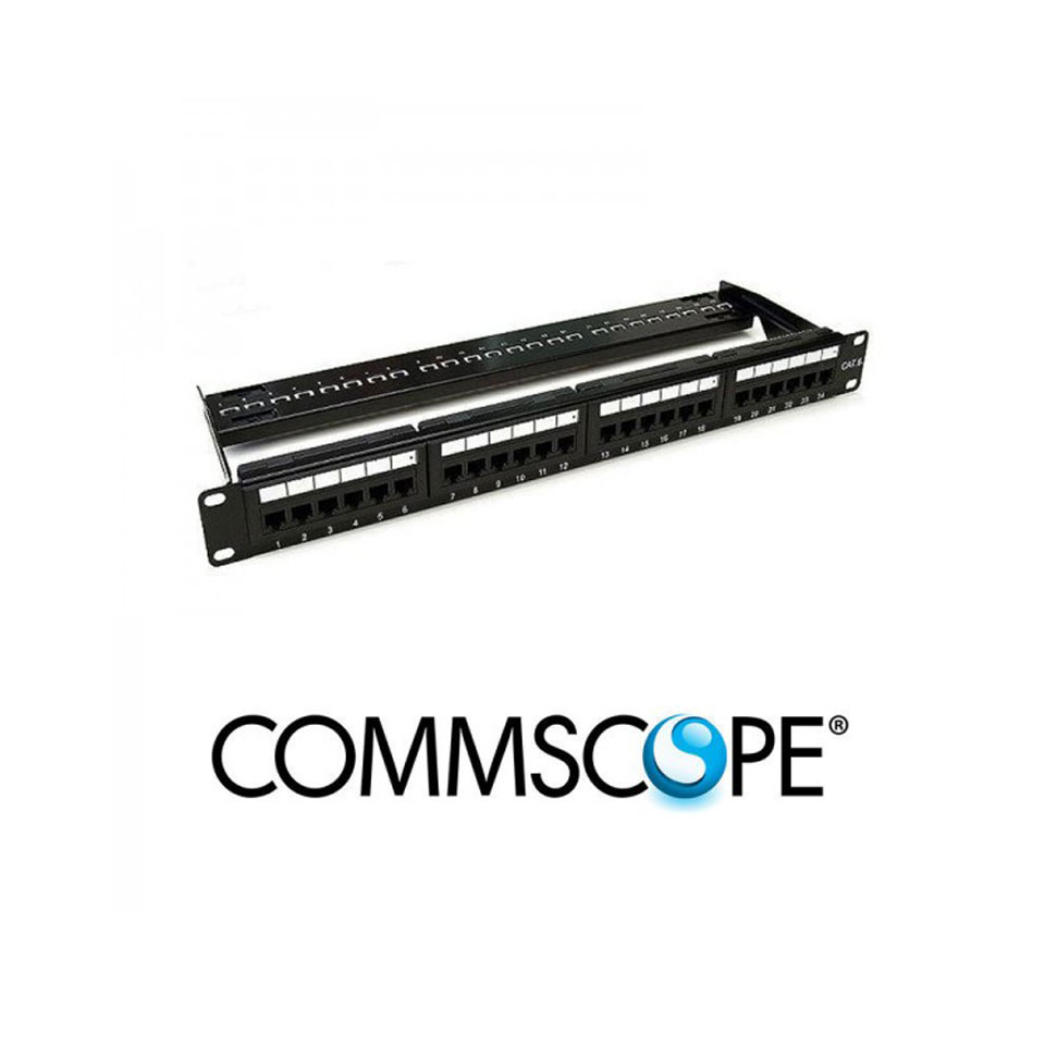 Patch panel 24 port CAT6 COMMSCOPE/AMP