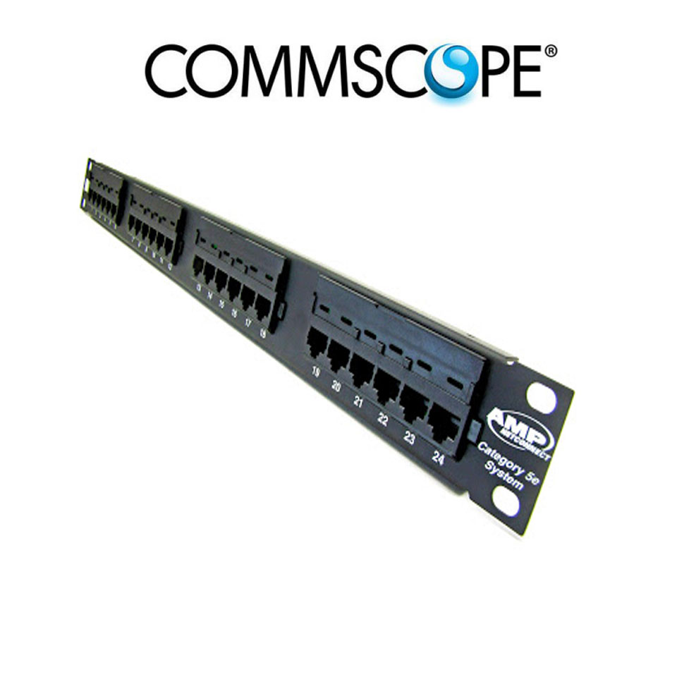 Patch panel 24 port CAT5E COMMSCOPE/AMP