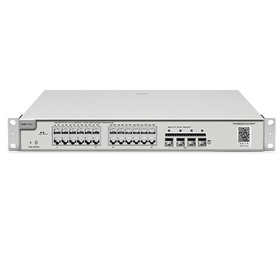 Layer 2 smart managed switches 24 cổng RG-NBS3200-24SFP/8GT4XS
