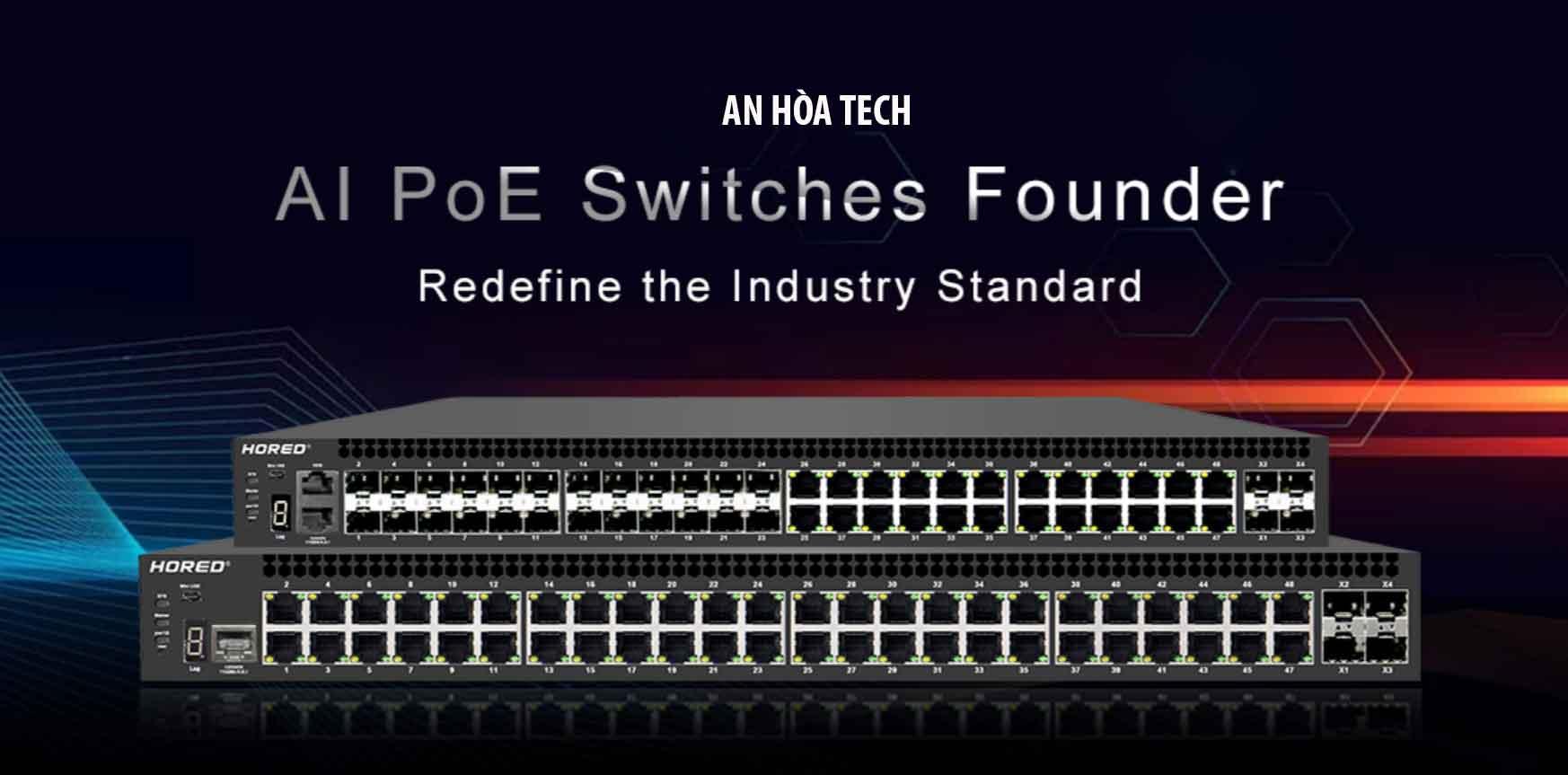 AI Cloud Managed PoE Switch, bộ chuyển đổi POE công nghiệp được quản lý AI Cloud