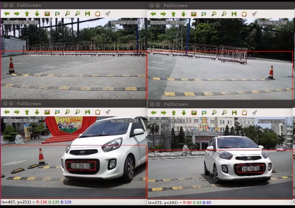 Camera AI chụp biển số đo tốc độ xe ra vào kết nối kiểm soát cổng tripod barrier ra vào
