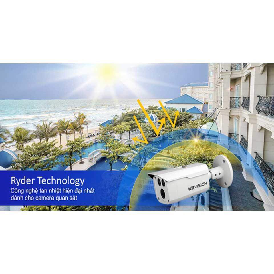 KBVISION  Ryder Công nghệ giải nhiệt dành cho camera quan sát