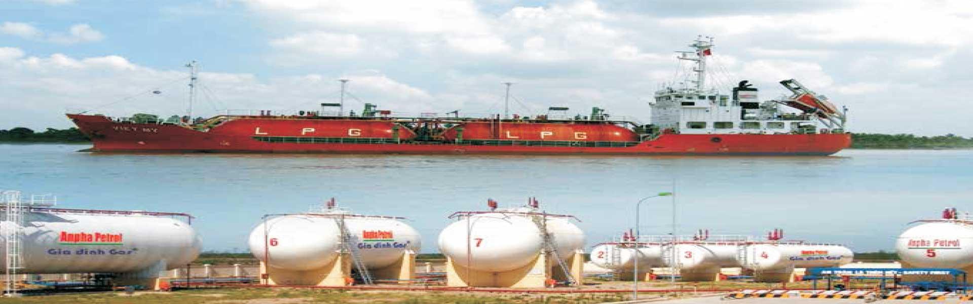 Cung cấp gas công nghiệp gas bồn,  lắp đặt bồn gas công nghiệp LPG, lắp đặt gas nhà hàng