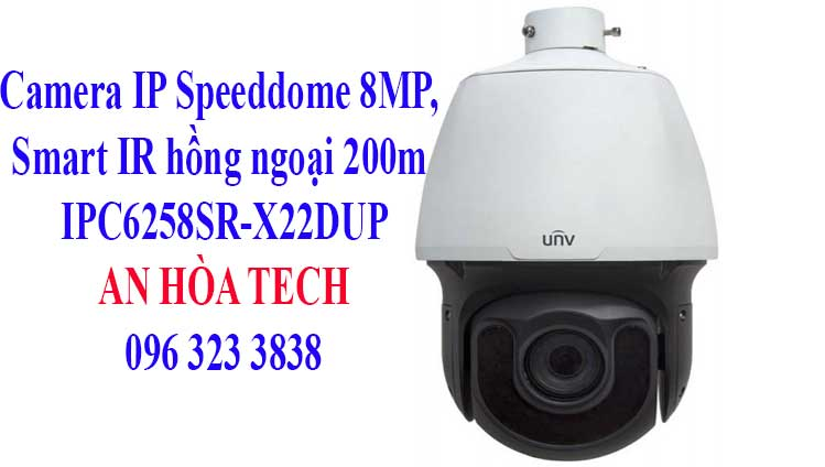 Camera IP Speeddome 8MP, Smart IR hồng ngoại 200m